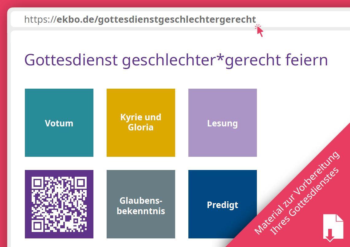 Ausschnitt aus der Postkarte mit Ansicht der Webseite, Bildquelle: EKBO